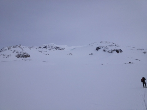 Nearing the base of Silvertip